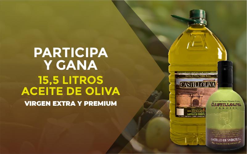 Participa y gana 15.5 litros de Aceite de oliva